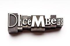 Dezembro Fotografia de Stock