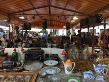 2015 dezembro, Barcelona-índice da loja da feira da ladra no placa Catalunia, Foto de Stock