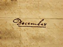 Dezembro escrito à mão Fotos de Stock