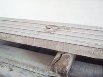 Dezerterującego włókno cementu deski †'niska jakość produkt Zdjęcia Royalty Free