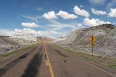 Dezerteruje autostradę obrazy royalty free