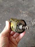 Dezerteruje będącą ubranym out solenoid część demontującą od starego benzyna starteru silnika silnika Zdjęcie Stock