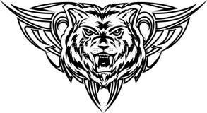 Dezign de tatouage de loup Images libres de droits