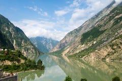 Dezihai o lago Dezi que corre a través de Sichuan Fotografía de archivo