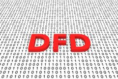 DFD illustration stock