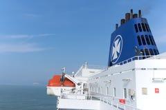 DFDS海上航道轮渡的上甲板  库存图片