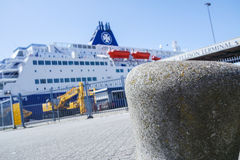 DFDS Ferry prepares to leave the harbour Royalty Free Stock Photo