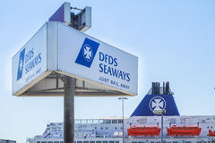 DFDS Ferry prepares to leave the harbour Stock Images