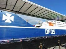 DFDS-het bedrijf viert 150 jaar verjaardags van de dienst in Klaipeda, Litouwen Stock Foto's