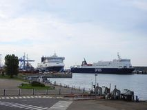 DFDS PATRIA SEAWAYS ship in Klaipeda town port, Lithuania Stock Image