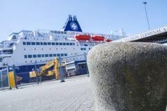 DFDS prom przygotowywa opuszczać schronienie Zdjęcie Royalty Free
