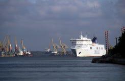 DFDS, puerto de Klaipeda Imagen de archivo libre de regalías