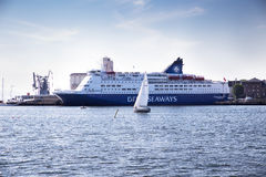 DFDS Seaways cruis ship in Oslo Harbour Stock Images