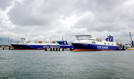 DFDS Seaways freight ferry Stock Photo
