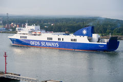 DFDS SEAWAYS ship OPTIMA entering Klaipeda harbour Stock Photo