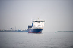 DFDS ship BOTNIA SEAWAYS in Klaipeda harbor Royalty Free Stock Photos