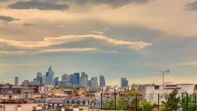 Dfense do La, Paris, construção, nuvem, tempo-lapso video estoque