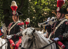 Défilé de corazzieri de Carabinieri Photo libre de droits