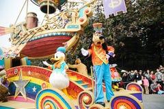 Défilé de Disney à Hong Kong Images libres de droits