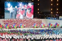 Défilé 2013 de jour national de Singapour Photographie stock libre de droits