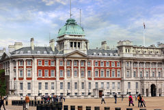 Défilé Londres Angleterre de dispositifs protecteurs de cheval Photographie stock