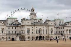 Défilé Londres Angleterre de dispositifs protecteurs de cheval Image libre de droits