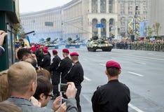 Défilé militaire en capitale ukrainienne Images stock