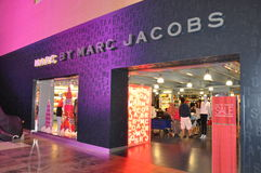 DFS Galleria in Waikiki, Oahu, Hawaii. Marc by Marc Jacobs at DFS Galleria Shopping Mall in Waikiki, Oahu, Hawaii. The multi-level shopping center houses the stock photo