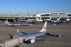 DFW Airport - American Airline Terminals Royalty Free Stock Photo