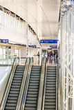 DFW airport - passengers in the Skylink station Royalty Free Stock Images