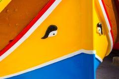 Χρώματα του της Μάλτα Dghajsa Στοκ φωτογραφία με δικαίωμα ελεύθερης χρήσης