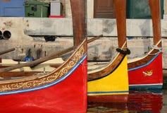 Dghajsa - taxi maltais de l'eau Images stock