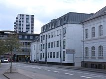 DGIhuset在丹麦海宁,丹麦 免版税图库摄影