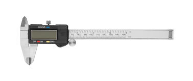 Dgital Electronic Vernier Caliper. Isolated on white background stock images