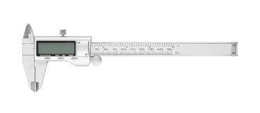 Dgital Electronic Vernier Caliper. Isolated on white background royalty free stock photography