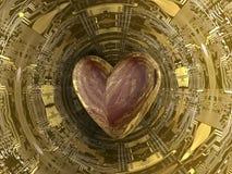 Dígito binario del corazón Fotografía de archivo