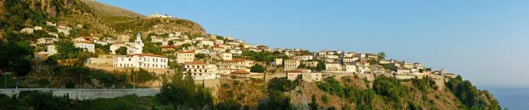 Dhërmi - Albanien Arkivbild