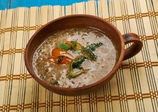 Dhaba Style Dal Fry. Indian Cuisine close uo Stock Photos
