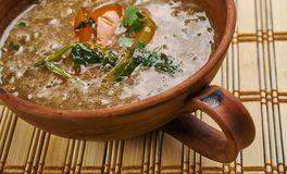 Dhaba Style Dal Fry. Indian Cuisine close uo Stock Photo