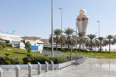 Dhabi-internationaler Flughafen Lizenzfreie Stockfotos