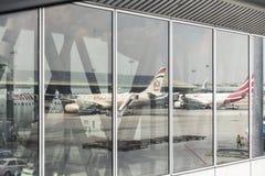 Dhabi-internationaler Flughafen Lizenzfreies Stockbild
