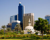 Dhabi-Skyline Stockbild