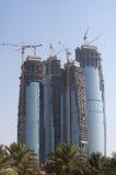 Dhabi-Skylinegebäude am Tag Stockfoto