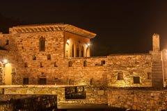 Dhadhikar Fort, Rajasthan. Night lit maha of Dhadhikar Fort, Rajasthan Royalty Free Stock Photography