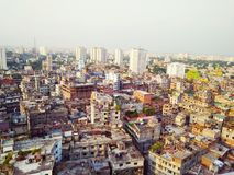 Dhaka from above royalty free stock photos