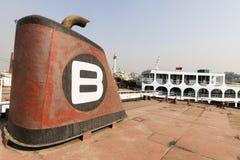 Dhaka, Bangladesh, o 24 de fevereiro de 2017: Cemitério do navio em Dhaka Bangladesh Foto de Stock