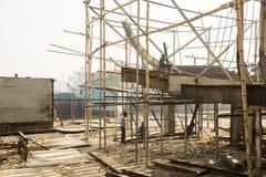 Dhaka, Bangladesh, o 24 de fevereiro de 2017: Doca do navio em Dhaka Bangladesh Foto de Stock
