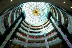 Dhaka, bangladesh, september 17- Bashundhara City Shopping Mall with 11 floor building complex and people at shopping. Center located in Panthapath in dhaka in Stock Photo