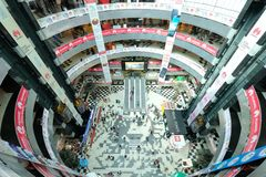 Dhaka, bangladesh, september 17- Bashundhara City Shopping Mall with 11 floor building complex and people at shopping. Center located in Panthapath in dhaka in Royalty Free Stock Images