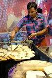 Dhaka, bangladesh, september 17, bangladesh chef cooking street junk food at street located at mogbazar area in dhaka in Royalty Free Stock Photo